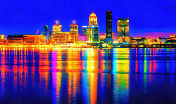 Wall Art - Painting - Lights Of Louisville by Dan Sproul