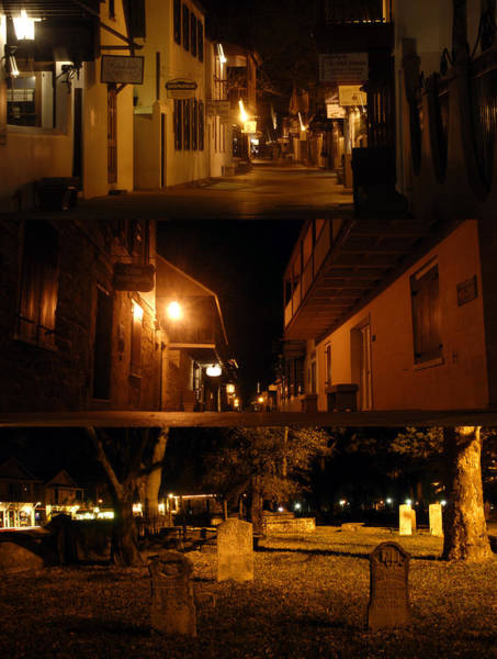 Wall Art - Photograph - Lights Of Old St. Augustine by David Lee Thompson