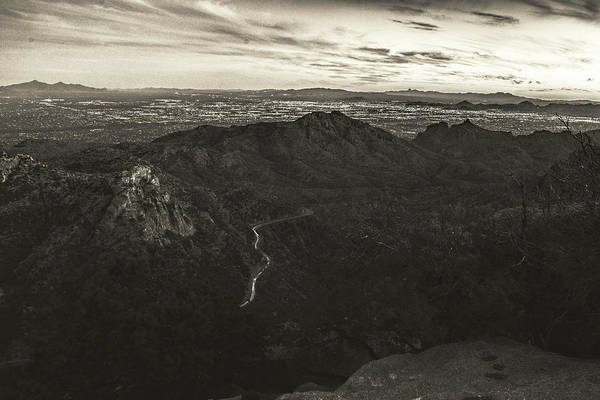 Photograph - Lights Of Tucson Sepia  by Chance Kafka