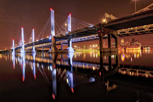Wall Art - Photograph - Lights On Abraham Lincoln Bridge by Adam Jones