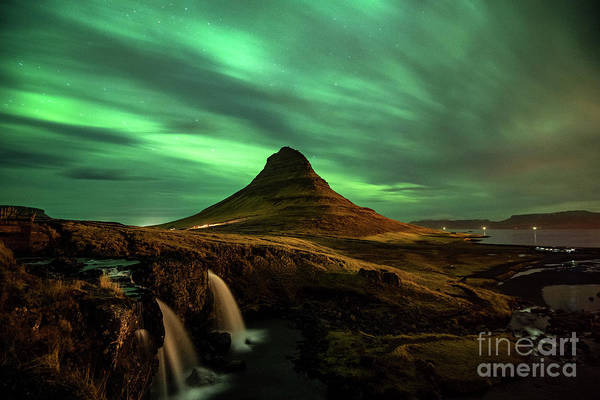Wall Art - Photograph - Lights Over Kirkjufell by Jamie Pham