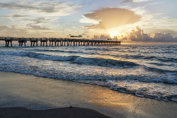 Photograph - Lights Over The Pier by Debra and Dave Vanderlaan