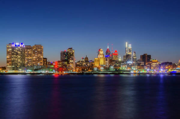 Wall Art - Photograph - Lights - Philadelphia On The Delaware by Bill Cannon