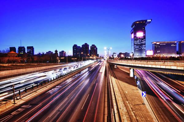 Rush Hour Photograph - Lightspeed Beijing by Andy Brandl