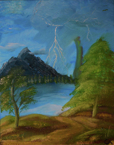 Painting - Ligtning Mountain by Chance Kafka
