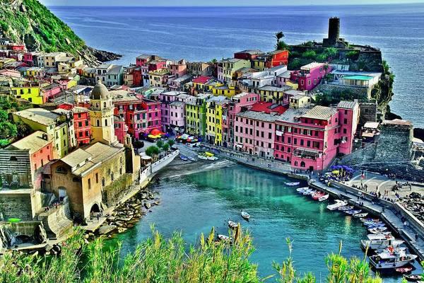 Wall Art - Photograph - Ligurian Seaside Gem by Frozen in Time Fine Art Photography