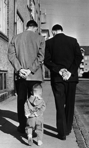 Street Photograph - Like Father Like Son by Keystone