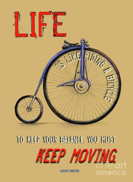 Like Riding A Bicycle Art Print