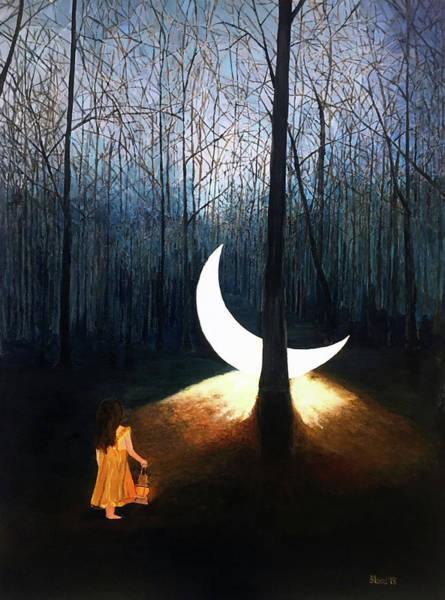 Painting - L'il Luna by Thomas Blood