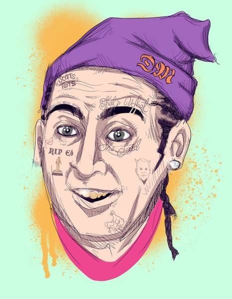 Professional Drawing - Lil Mike by Ludwig Van Bacon