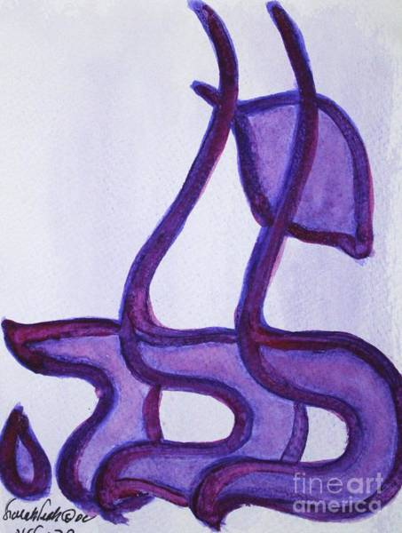 Painting - Lila Nf15-73 by Hebrewletters Sl
