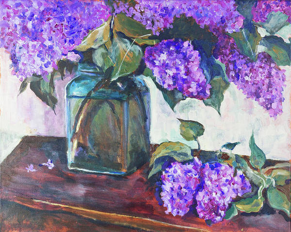 Painting - Lilac 16x20 by Maxim Komissarchik