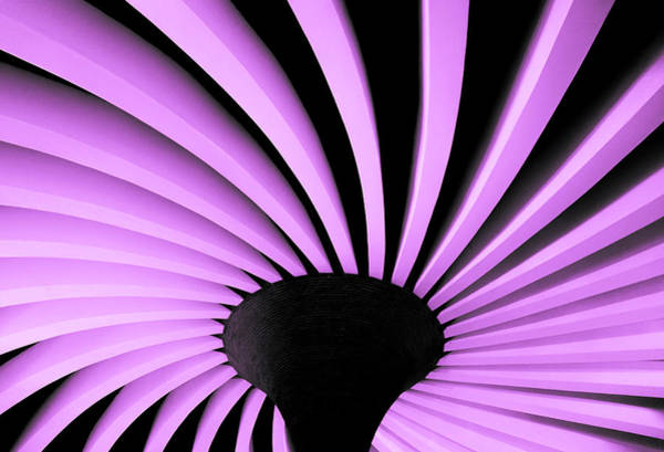Photograph - Lilac Fan Ceiling by Silvia Marcoschamer