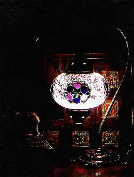 Photograph - Lilac Oriental Mosaic Lamp by Dorothy Berry-Lound