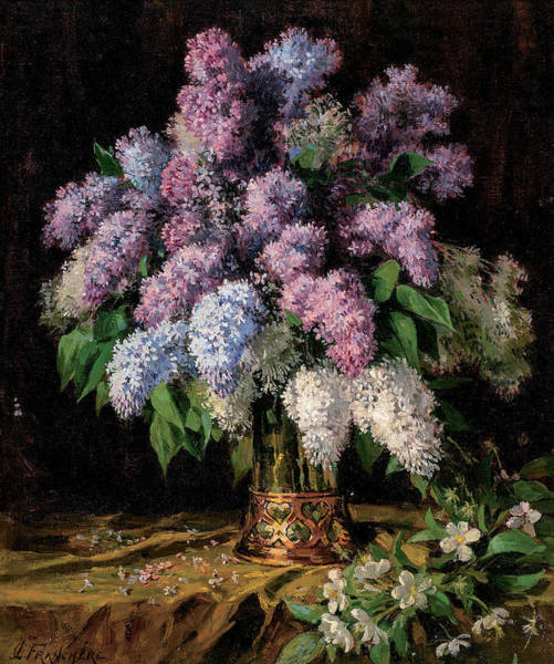 Floret Wall Art - Painting - Lilacs by Jean Charles Franchere