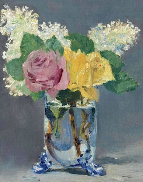 Wall Art - Painting - Lilas Et Roses, 1882 by Edouard Manet
