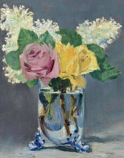 Wall Art - Painting - Lilas Et Roses by Edouard Manet