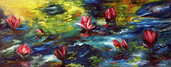 Painting - Lilies In A Pond by Ruslana Levandovska