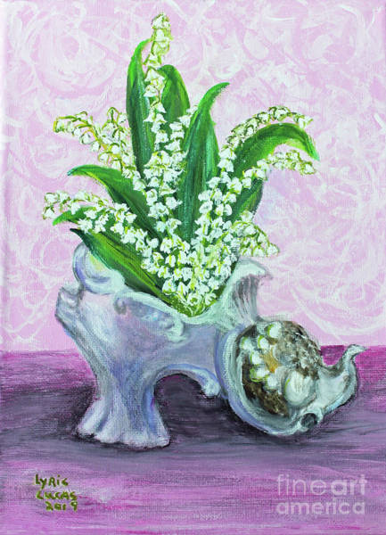 Wall Art - Painting - Lilies Or The Valley For Cinderella  by Lyric Lucas