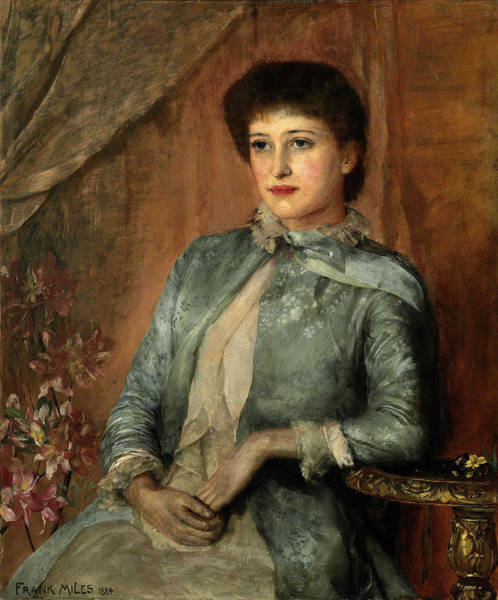 Wall Art - Painting - Lillie Langtry by Frank Miles