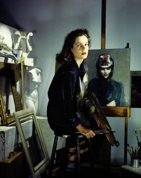 Wall Art - Photograph - Lily Emmet In Her Studio by Horst P. Horst