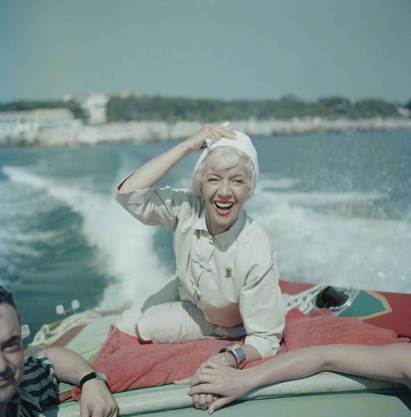 Nautical Photograph - Lily On The Riviera by Slim Aarons