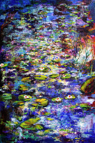 Painting - Lily  Pond Impressions Oil Painting by Ginette Callaway