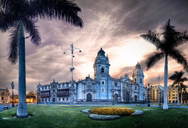 Lima Photograph - Lima Cathedral by Domingo Leiva