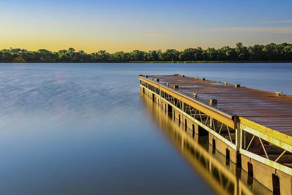 Photograph - Lima Lake Fishing Dock by Dan Sproul