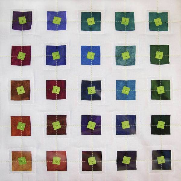 Tapestry - Textile - Lime Squares by Pam Geisel
