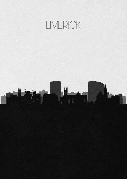 Digital Art - Limerick Cityscape Art by Inspirowl Design