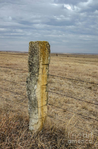 Photograph - Limestone Fence Post by Sue Smith
