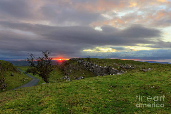 Wall Art - Photograph - Limestone Pavement On Henside Lane Near Langcliffe Yorkshire by Louise Heusinkveld