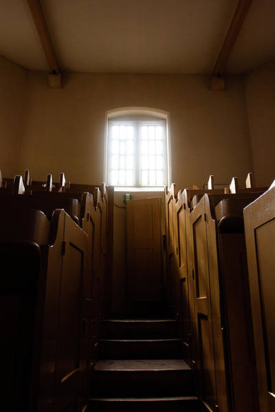 Photograph - Lincoln Castle Prison Chapel Window by Scott Lyons
