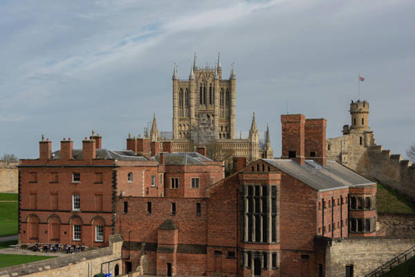 Photograph - Lincoln Cathedral Behind The Castle by Scott Lyons