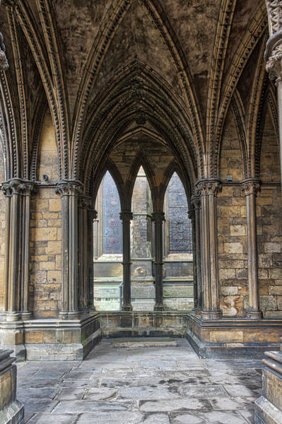 Photograph - Lincoln Cathedral Gothic Archways by Scott Lyons