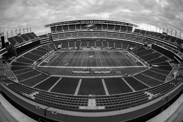 Lincoln Photograph - Lincoln Financial Field Black And White by Robert Hayton