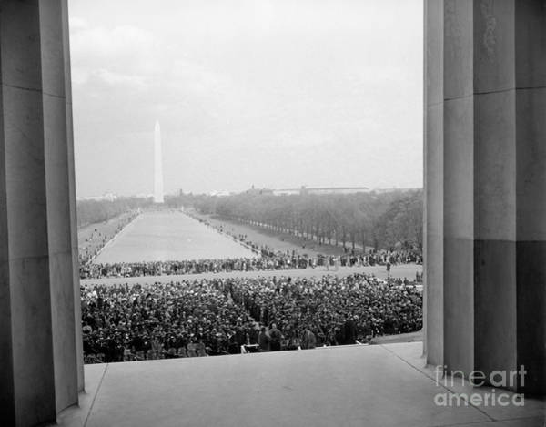 Photograph - Lincoln Memorial Concert, 1939  by Granger