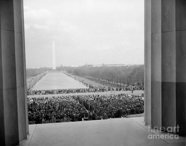 Wall Art - Photograph - Lincoln Memorial Concert, 1939  by Granger