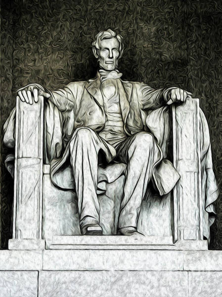 Digital Art - Lincoln Memorial by Kenneth Montgomery