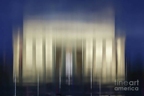 Wall Art - Photograph - Lincoln Memorial Reflection At Night Washington Dc by Edward Fielding