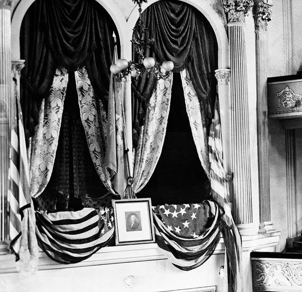 Wall Art - Photograph - Lincoln's Box At Ford's Theater - 1865 by War Is Hell Store