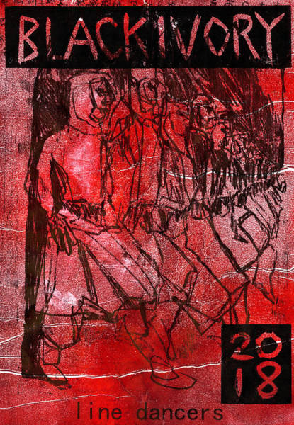 Relief - Line Dancers In Red Mist by Artist Dot
