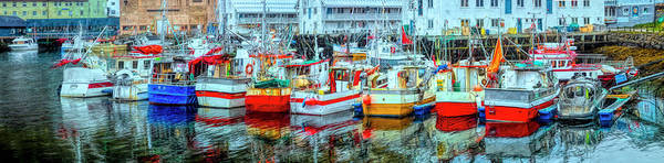 Wall Art - Photograph - Line Up Of Fishing Boats by Debra and Dave Vanderlaan