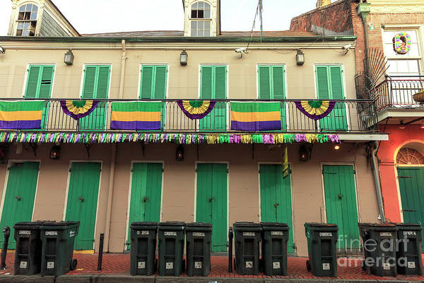 Photograph - Lined Up On Bourbon Street New Orleans by John Rizzuto