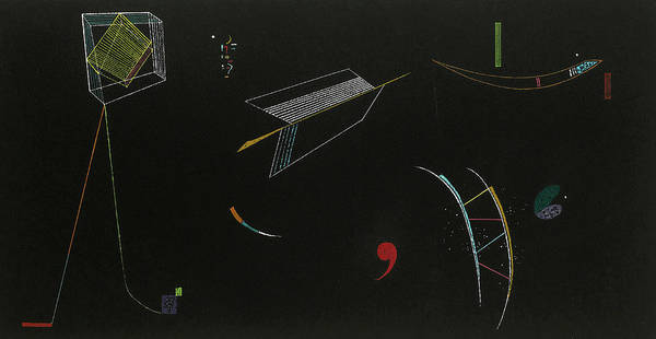 Improvisations Wall Art - Painting - Lines, 1939 by Wassily Kandinsky