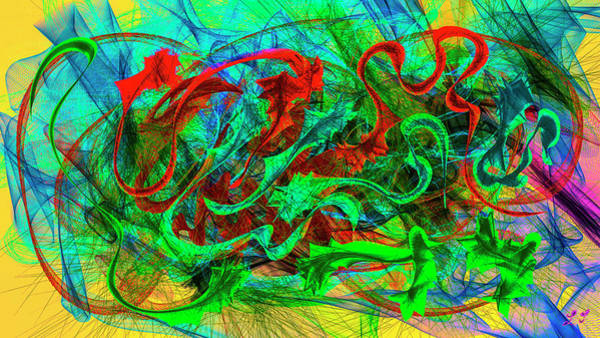 Digital Art - Lines And Colours #i8 by Leif Sohlman