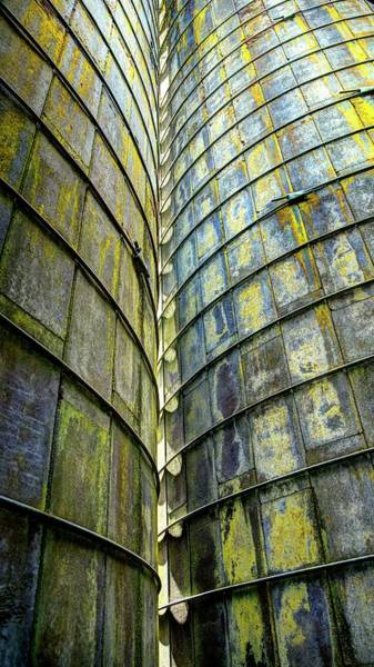 Photograph - Lines On Two Silos by Jerry Sodorff