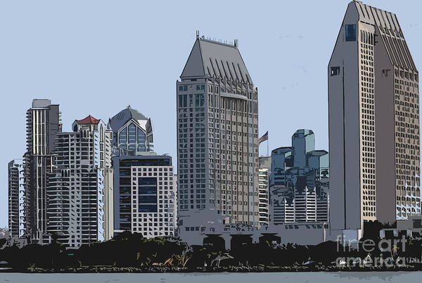 Digital Art - Lining San Diego Bay by Kirt Tisdale