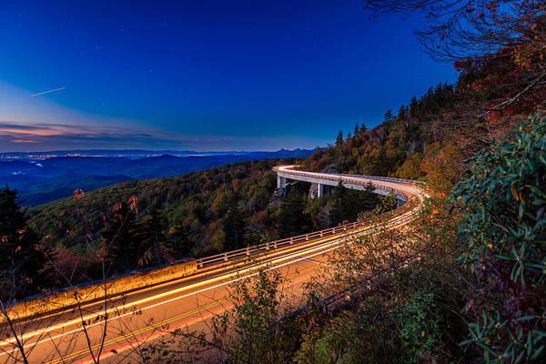 Wall Art - Photograph - Linn Cove Viaduct - Blue Ridge Parkway by Mike Koenig